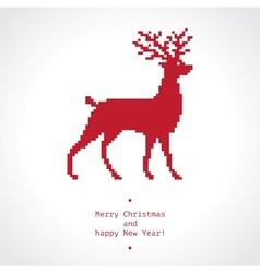 Pixel deer vector image vector image