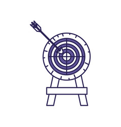 purple line contour of arrow on target vector image vector image