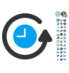 Restore clock icon with free bonus vector