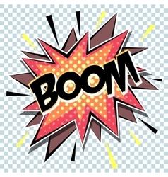 retro cartoon explosion pop art comic boom vector image