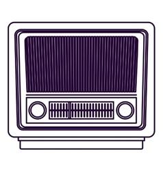 Retro radio technology design vector