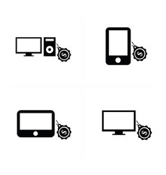 sale digital devices icon vector image vector image
