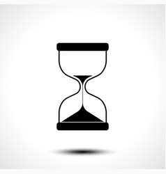 Sand hourglass icon isolated on white background vector