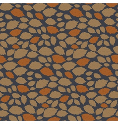 Seamless autumn pattern with fallen leaves vector
