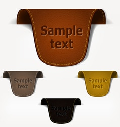set of leather tag labels vector image vector image