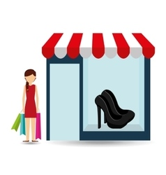 shoes woman buys gifts vector image