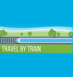 train travel banner vector image