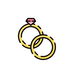 Wedding flat icon vector image vector image