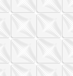 White diagonal onion shapes on squares seamless vector image vector image