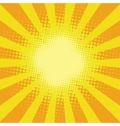 Yellow sunbeam rays vector