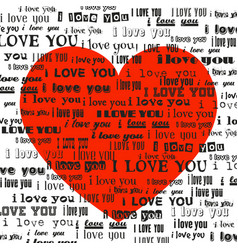 Big red heart isolated on white background vector