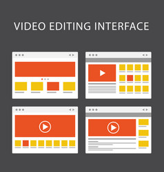 Video editing software interface - media vector