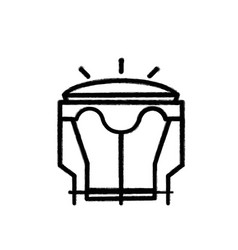 Figure djembe music instrument to melody harmony vector