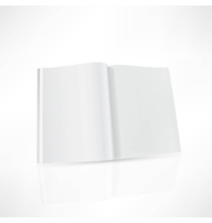 Open magazine double-page spread with blank pages vector image