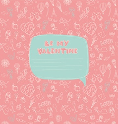 Valentines day seamless pattern with place for vector