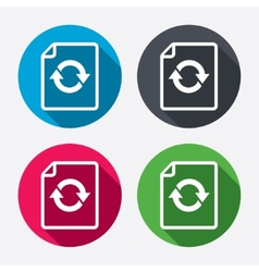 File document refresh icon reload doc symbol vector
