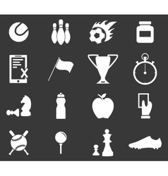 Sport icon set 3 monochrome vector