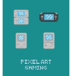 Pixel art retro video game vector