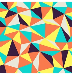 Triangular pattern retro colors vector