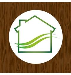 Eco house icon design vector