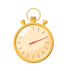 Stopwatch icon in cartoon style vector