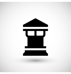 Modern chimney icon vector