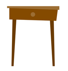 bedside table cartoon vector image