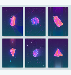 bright backgrounds with retro futuristic neon vector image vector image