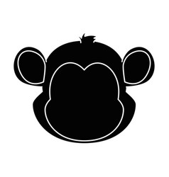 cute monkey character icon vector image vector image