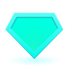 Cyan superhero logo vector