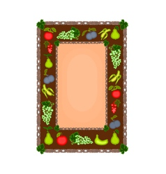 Decorative frame with fruit motif vector image