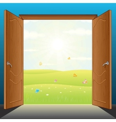 Doors to nature vector