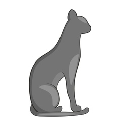 Egypt cat icon cartoon style vector