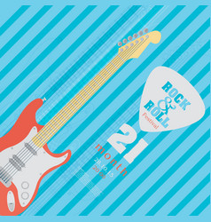 electric guitar banner background vector image vector image