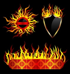 fiery templates vector image