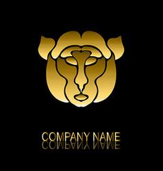 golden monkey symbol vector image