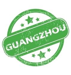 Guangzhou green stamp vector