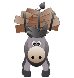 Happy donkey vector