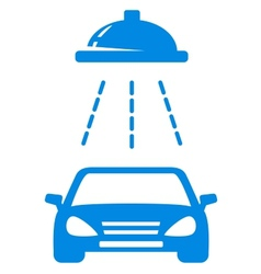 Isolated blue car wash icon vector