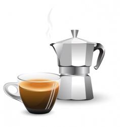 Italian coffee machine vector image vector image