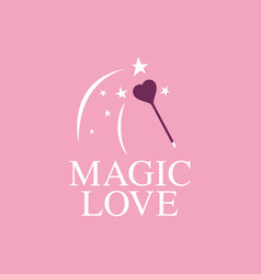 Modern professional sign logo magic love vector