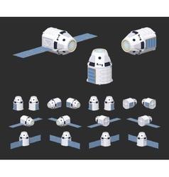 Modern reusable spaceship vector