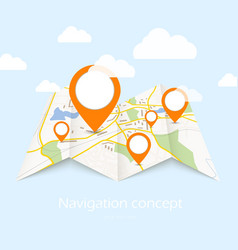 Navigation map vector image