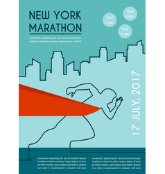 number one winner at a finish line poster design vector image