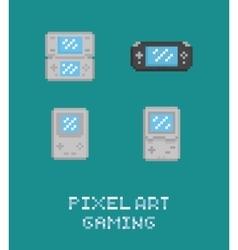 Pixel art retro video game vector