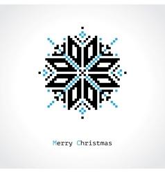 Pixel snowflake vector image