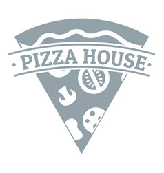 pizza logo simple gray style vector image