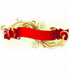 red banner vector image
