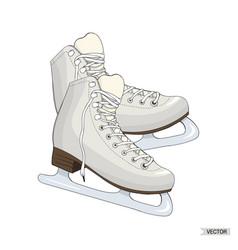 skates isolated on white background vector image