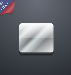 stop button icon symbol 3D style Trendy modern vector image
